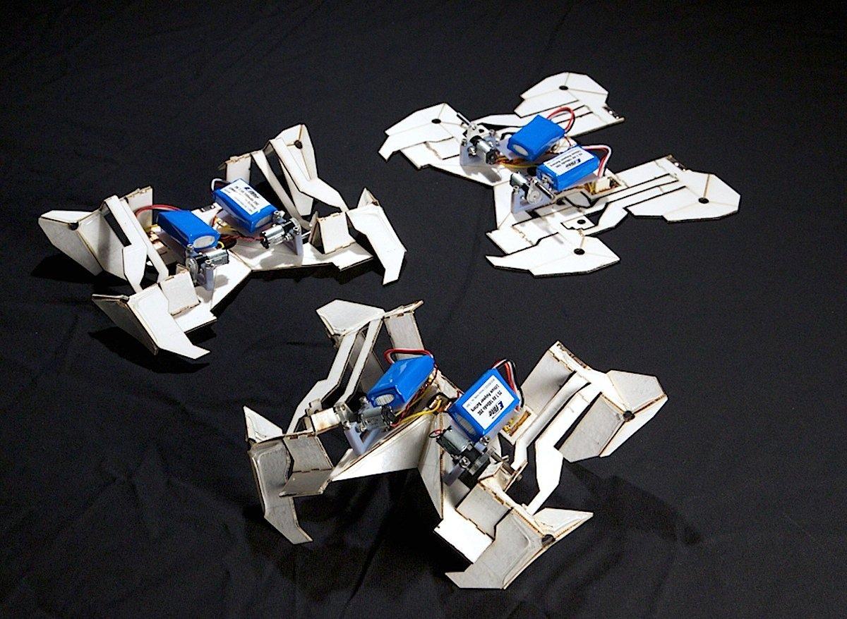 Das Entfalten des Roboters dauert vier Minuten. Anschließend läuft er von selber los.