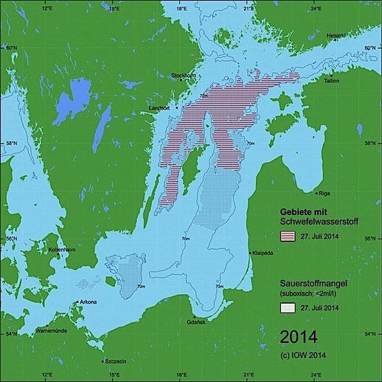 Kurzes Aufatmen am Ostseegrund:Sauerstoffreiches Salzwasser aus der Nordsee hat das Gotland-Becken erreicht und verdrängt zum ersten Mal seit 2003 den Schwefelwasserstoff in den Tiefen der zentralen Ostsee.