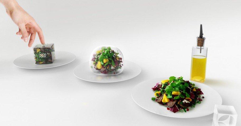 """Das intelligente und futuristische Verpackungssystem für Lebensmittelreste namens""""Nanopack"""" reichte der australische IndustriedesignstudentRené Walk in den Wettbewerb ein."""