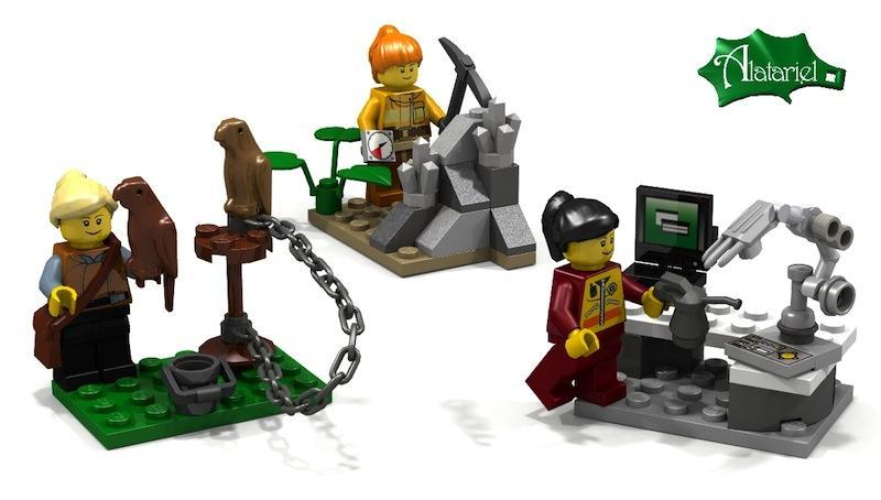 Die schwedische Geochemikerin Ellen Kooijman hatte die Idee für weibliche Spielfiguren: zu diesen gehörte auch eine Ingenieurin, die allerdings noch nicht gebaut ist.