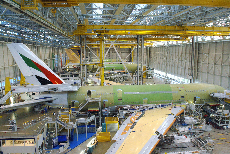 Zusammenbau eines A380 bei Airbus in Toulouse: Das Flugzeug ist ungeschlagener Gigant des Luftverkehrs und kann bis zu 853 Passagiere befördern.