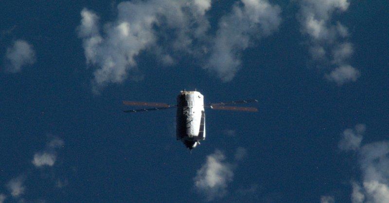 Für das LIRIS-Experiment zur Erprobung einer neuen Technologie für das Andocken flog das ATV-5 unterhalb der ISS.
