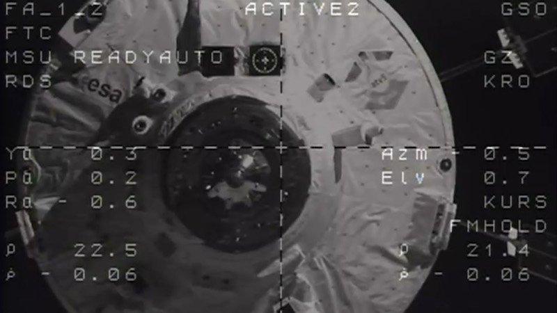 Am 12. August dockte das ATV-5 um 15.30 Uhr mitteleuropäischer Zeit an die ISS an.
