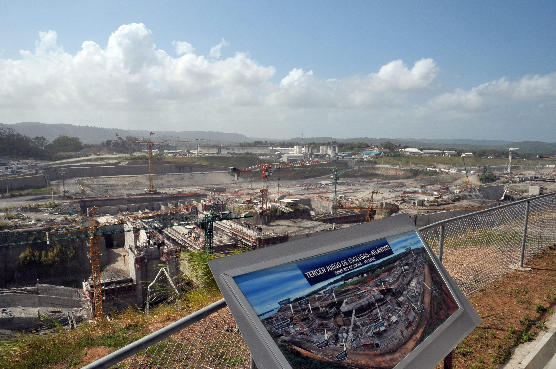 Großbaustelle Panamakanal 2014: Das Foto stammt vom Januar und zeigt die Arbeiten in Colón.
