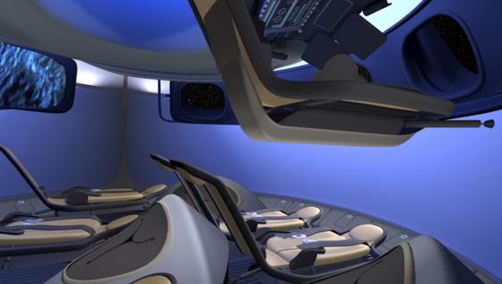 Sieben Raumfahrer haben im Inneren der Raumkapsel CTS-100 von Boeing Platz. Die erste bemannte Mission soll im Jahr 2017 starten.