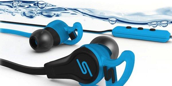 Schweiß und Spritzwasser machen den Kopfhörern nichts aus.