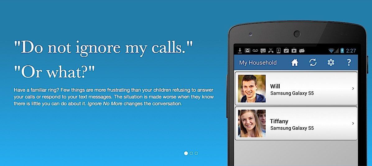 """App """"Ignore No More"""": Will und Tiffany sollten lieber rangehen, wenn die Mutter anruft. Sonst wird das Telefon gesperrt."""