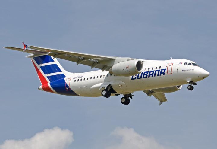 Kuba ist noch einer der wenigen Kunden, der noch Flugzeuge von Antonov kauft. Mitte Juli lieferte Antonov einen Regionaljet An-158 an Kuba. Allerdings folgt bis Ende 2014 nur noch ein weiterer Jet für die Karibikinsel.