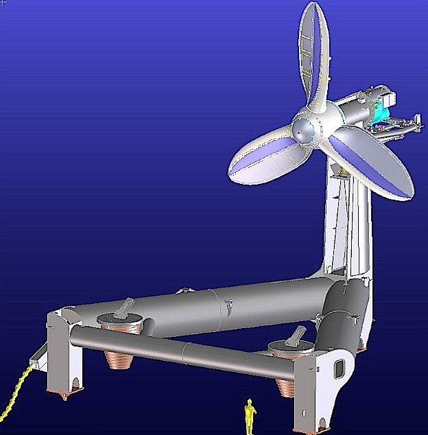 Das Konzept der DeltaStream-Turbine stammt von dem privatwirtschaftlichen Unternehmen Tidal Energy.
