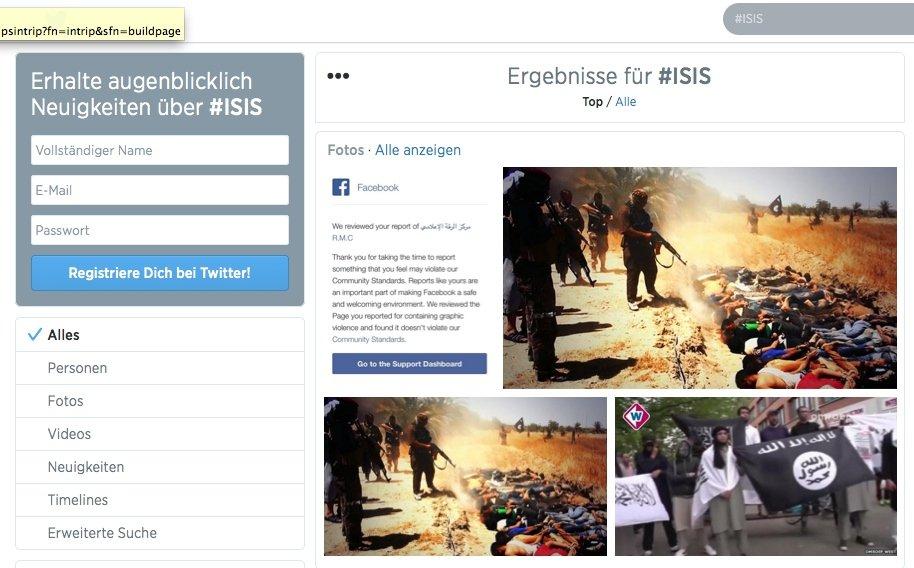 Die Terrorgruppe Islamischer Staat nutzt das Netzwerk Twitter ganz offensiv, um Bilder ihrer Gräueltaten im Irak und Syrien weltweit zu verbreiten.