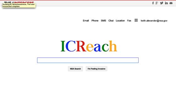 Eine eigene Suchmaschine namens ICReach, die optisch wie Google aussieht, betreibt der amerikanische Geheimdienst NSA bereits seit Jahren.