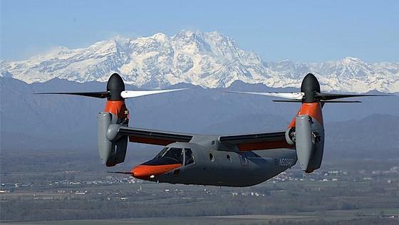 Der Kippflügler BA 609 dreht die Rotoren für Start und Landung um 90 Grad. Start- und Landebahnen sind somit überflüssig.