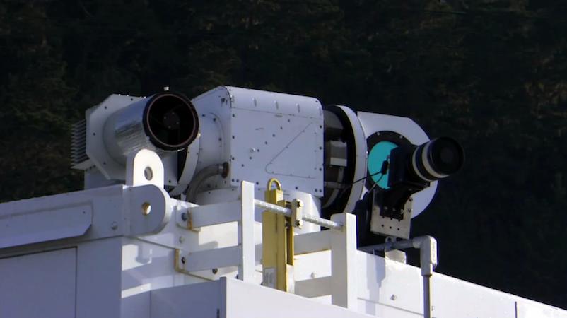Adam von Lockheed Martin: Der zehn Kilowatt starke Laser kann Schlauchboote in zwei Kilometern Entfernung zum Schmelzen bringen.