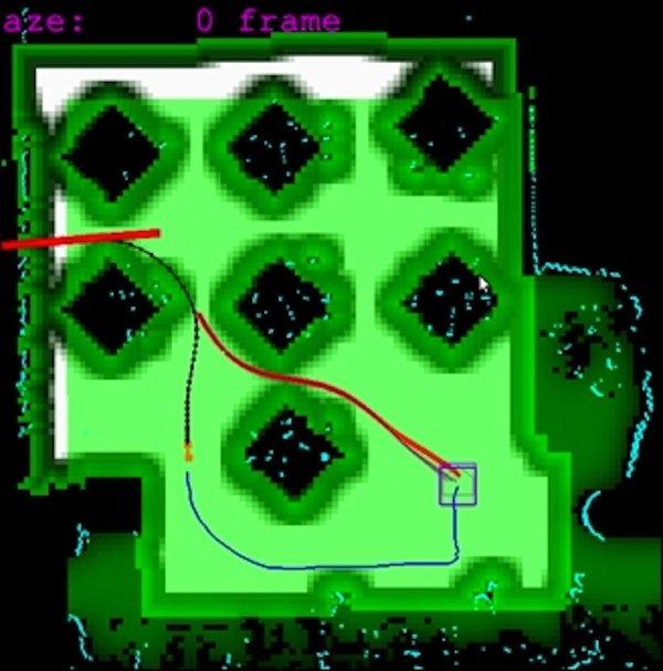 Der Robot Printer orientiert sich mitLidar-Sensoren im Büro und speichert alle Informationen in einer Karte, die er zur besseren Orientierung anlegt.
