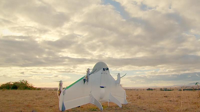 Die Drohnen starten senkrecht wie Raketen. Erst in der Luft wechseln sie für den weiteren Flug in die Horizontale.