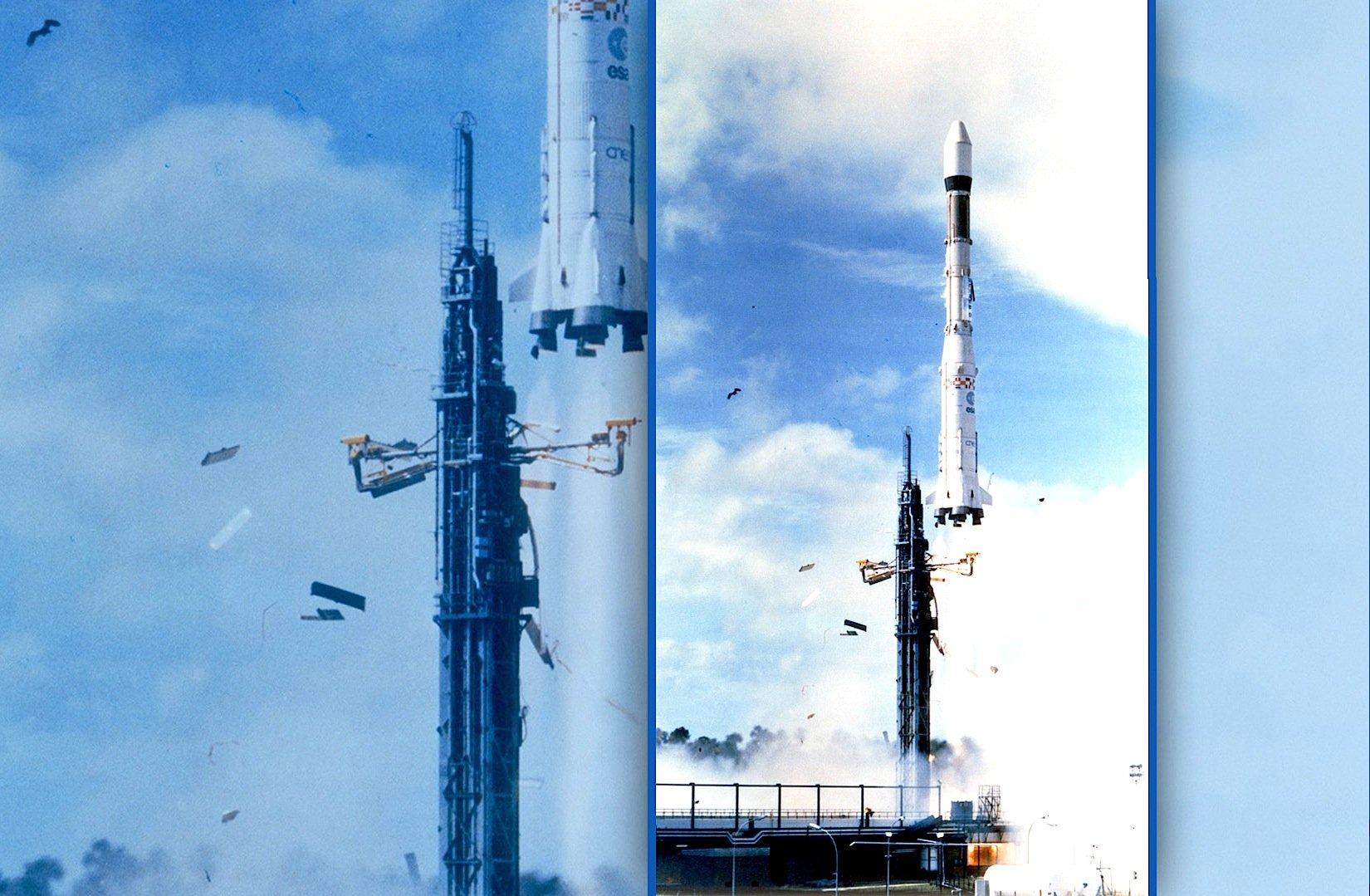 Die erste Ariane-Trägerrakete startete im Jahr 1979 in Kourou.