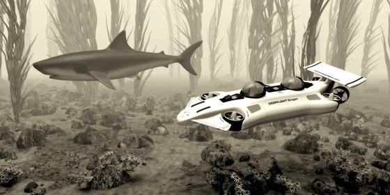 Das U-Boot Dragon lässt sich bis zu einer Tiefe von 120 Metern steuern und schafft rund 7,4 Kilometer pro Stunde