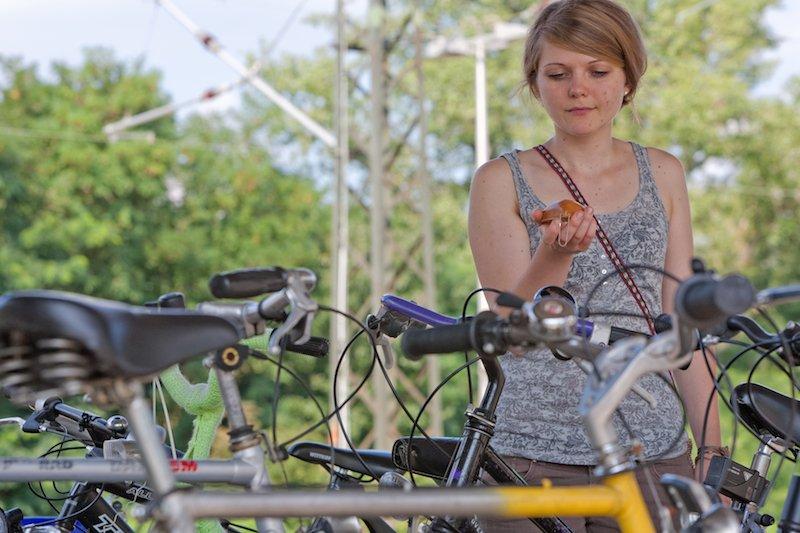 Wo ist bloß mein Fahrrad? Mit dem kleinen Suchgerät