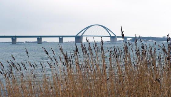 Die Fehmarnsundbrücke vor der Insel Fehmarn in Schleswig-Holstein ist sanierungsbedürftig. Spätestens im Jahr 2022, wenn der Fehmarnbelt-Tunnel fertig ist, wird sie dem wachsenden Verkehr nicht mehr standhalten können.