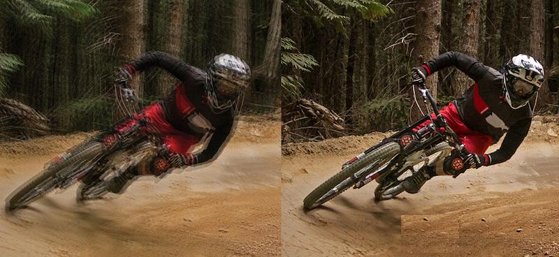 Die Funktion Steady-Shot gleicht Verwacklungen aus und garantiert auch bei ruckeligen Fahrradfahrten ein ruhiges Bild.