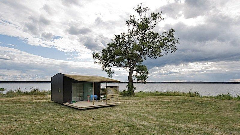 Ebenfalls ein Blickfang ist das Minihouse 2.0: Hinter dem Konzept steckt der Stockholmer Designer Jonas Wagell.