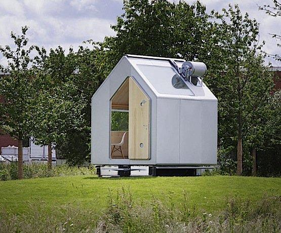Das blechverkleidete Häuschen Diogene von Renzo Piano kommt sogar mit einer Grundfläche von nur sieben Quadratmetern aus.