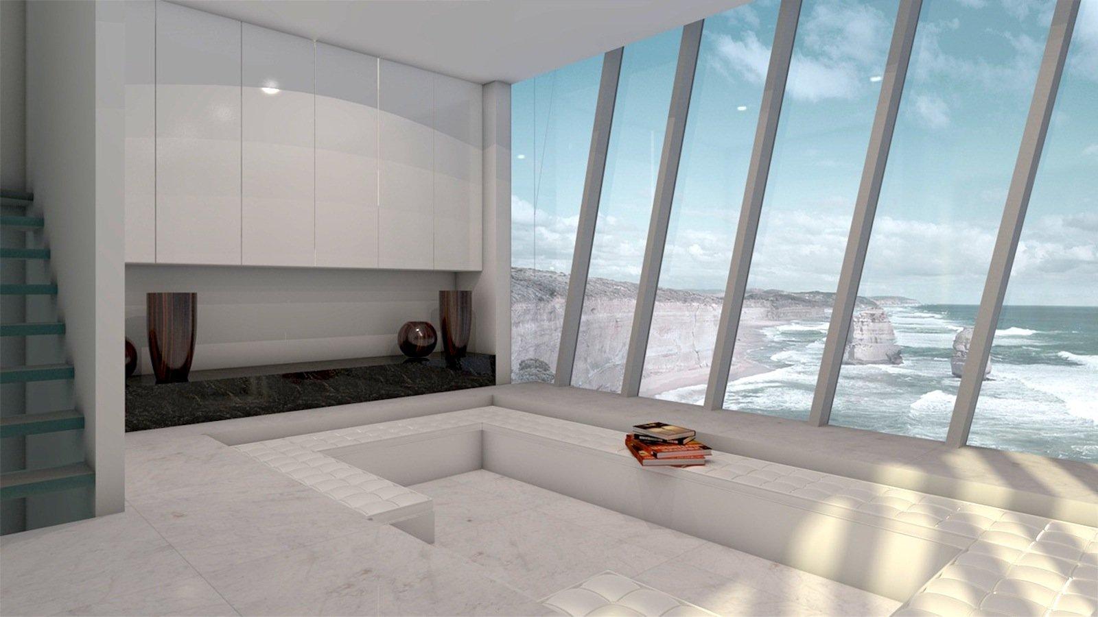 Kühles Design innen und spektakulärer Ausblick: Das Klippenhaus der australischen Design- und Fertigbaufirma Modscape ist zweifellos etwas Besonderes.