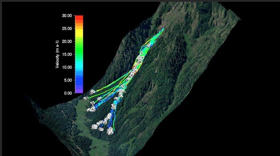 Weg, Geschwindigkeit und Position jedes Steines wurde ganz genau kartografiert.