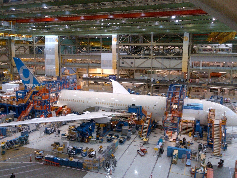 Produktion des 787 Dreamliners: Boeing konnte die Produktionskosten pro Exemplar von 242 auf 154 Millionen US-Dollar senken – unter anderem mit Druck auf die Zulieferer.