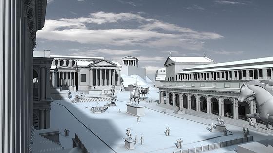 3D-Rekonstruktionen zeigen das Forum Romanum in verschiedenen Epochen: Die direkten Nachfolger des Augustus, die Kaiser der iulisch-claudischen Dynastie, haben beispielsweise nach 14 n. Chr. kaum mit eigenen Baustiftungen in das Erscheinungsbild des Forums eingegriffen.