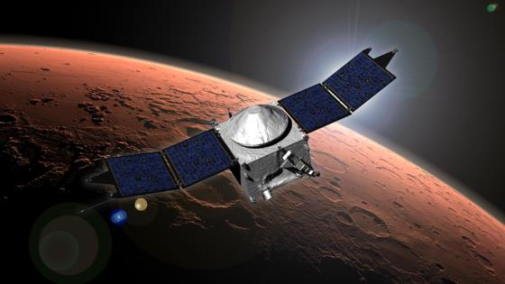 Die Marssonde Maven ist in der Nacht zu Montag in die Umlaufbahn des Mars' eingeschwenkt.