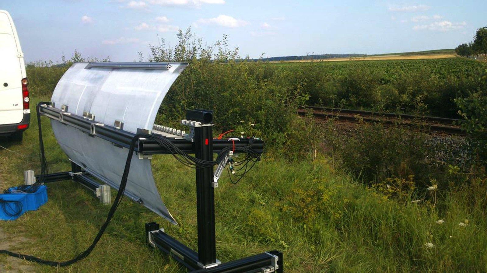 Optimiert für den Schienenverkehr:Mikrofon-Array Technik zur Schallquelllokalisierung.