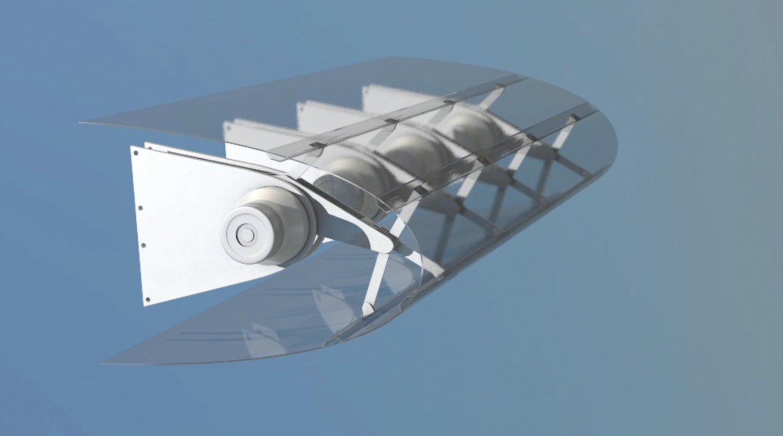 Von der Luftfahrt zur Windenergie: Ein in sich bewegliches Rotorblatt kann sich auf aktuelle Windgeschwindigkeiten einstellen.