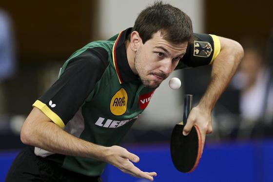 Timo Boll spielt derzeit für Deutschland bei der Tischtennis-EM in Lissabon. Der Profi hat bereits eine Meinung zum neuen Plastikball: Ihm lässt sich ein Tick weniger Spin mitgeben.