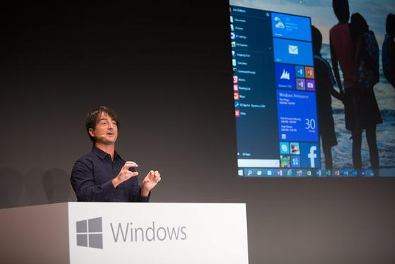 Am 30. September 2014 gab Microsoft-Entwickler Joe Belfiore in San Francisco der Öffentlichkeit erste Einblicke in Windows 10. Unbekannt ist, warum der Konzern Versionsnummer 9 einfach auslässt.