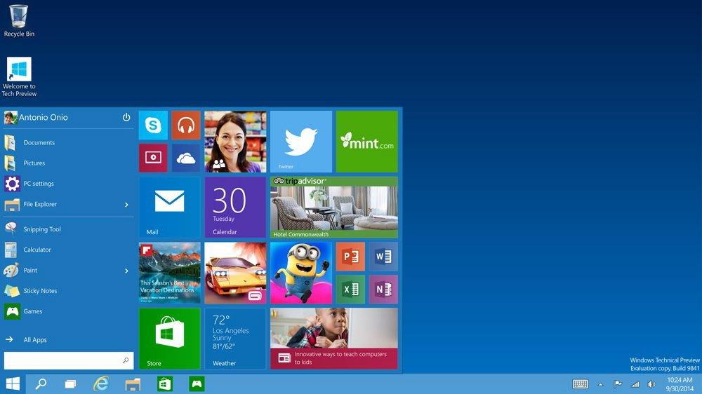 Windows 10 bringt das klassische Startmenü zurück. Die Kachelstruktur von Version 8 stieß viele Nutzer vor den Kopf.