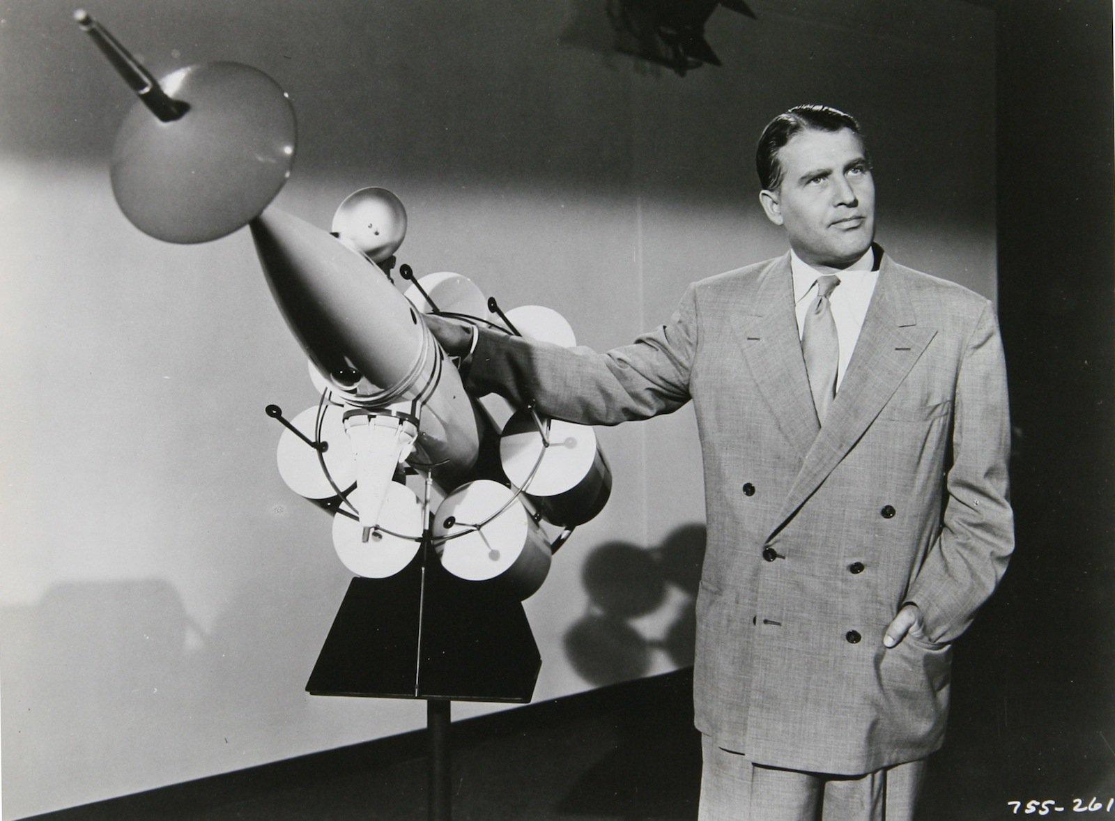 Der deutsche Raketenpionier Wernher von Braun.
