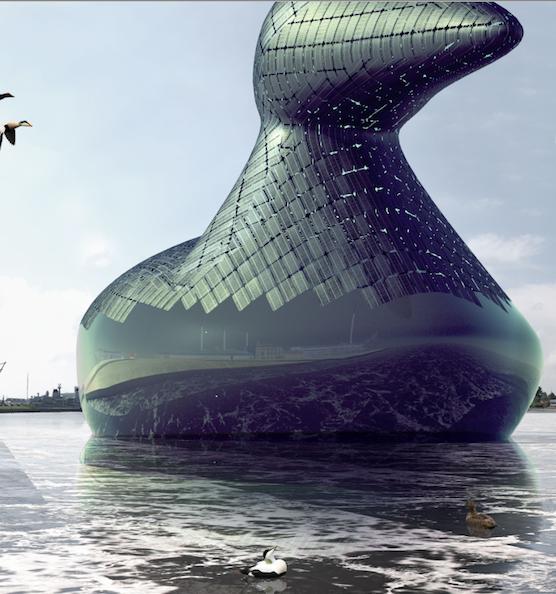 Vielleicht schwimmt auch bald die sogenannte Energieente durch Kopenhagen. Ihre Außenhaut besteht aus Solarkollektoren. In ihrem Bauch ist Platz für Besucher.