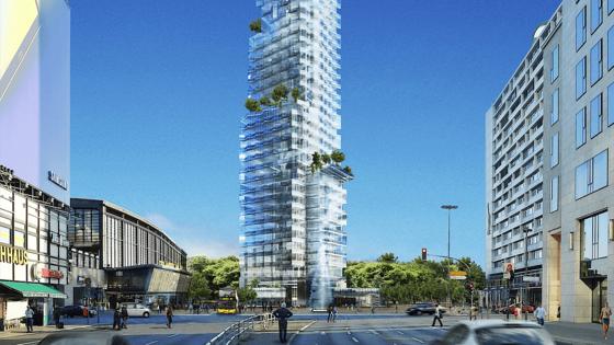 So stellt sich Architekt Christoph Langhof den Hardenberg Wolkenkratzer vor: 52 Etagen mit einem Hotel, Büros und Wohnungen.