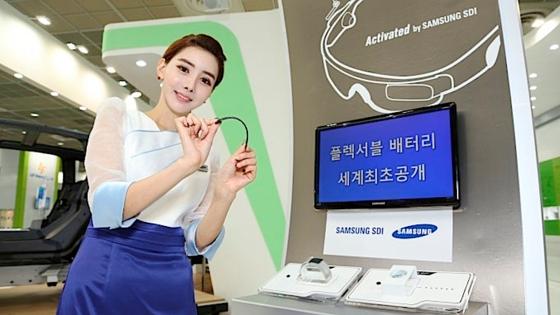 Samsungs Messestand auf der Inter Battery in Seoul: Bis zur Markteinführung der biegbaren Batterie werde es noch dauern, gab der Konzern bekannt.