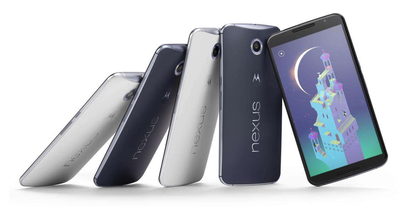 Im leichten Aluminiumgehäuse des Smartphones Nexus 6 stecken eine 13-Megapixel-Kamera und ein schneller 2,7-GHz-Prozessor.