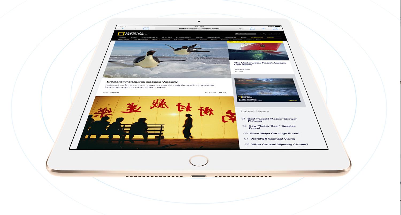 Das iPad Air 2 ist mit 6,1 Millimetern noch dünner als das iPhone 6. Ob es jetzt wieder zu Biegewettbewerben im Internet kommt?
