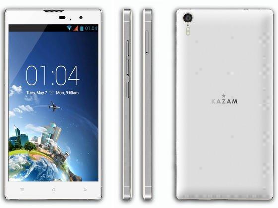 Mit 5,5 mm Bauhöhe das dünnste Smartphone der Welt: dasTornado 348 des britischen Herstellers Kazam.