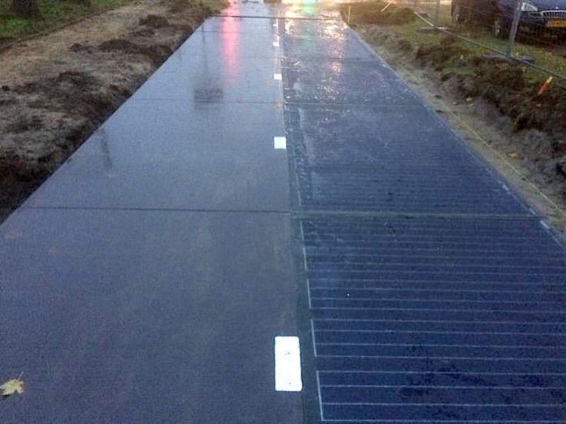 Zukunftsweisend: Radeln auf der Solarstraße kann man ab dem 12. November in der Gemeinde Zaanstad in der Provinz Nord-Holland.