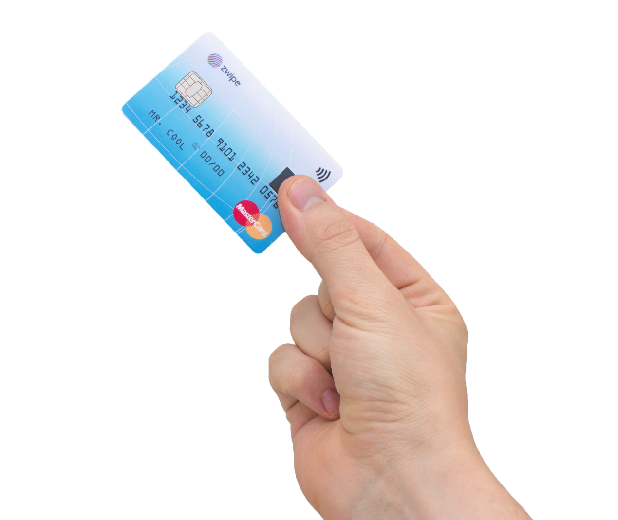 Ab 2015 erhältlich: die neue Mastercard mit Biometrie-Sensor.