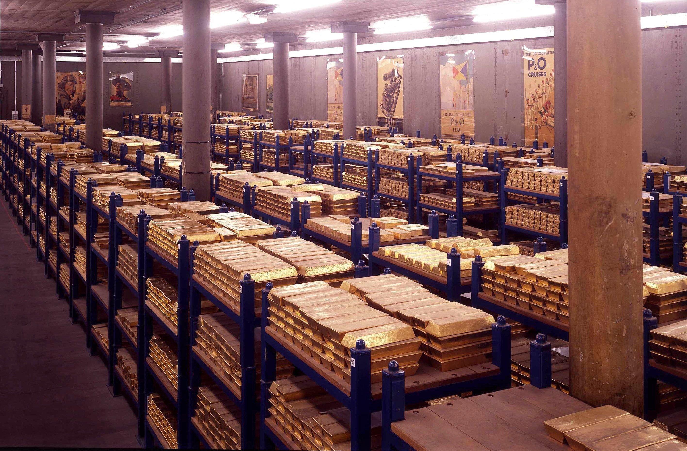 Goldschatz der Bank of England: Die englische Zentralbank wickelt vor allem den Zahlungsverkehr zwischen den Banken in Echtzeit ab.