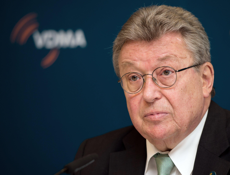 Reinhold Festge, Präsident des VDMA, auf dem 7. Deutschen Maschinenbau-Gipfel in Berlin: Festge rief die Branche auf, sich stärker in Afrika zu engagieren.