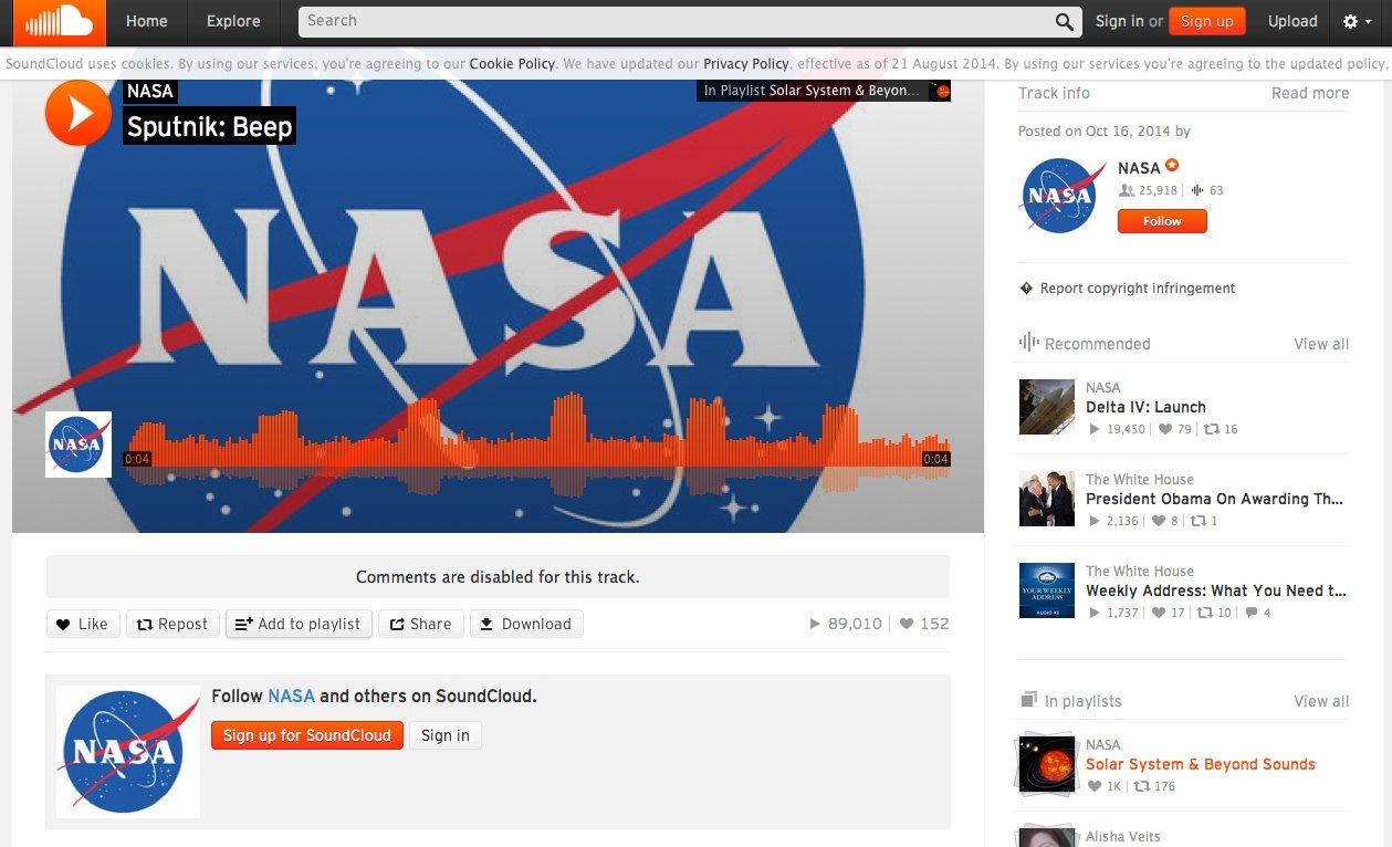 Sound des Sputnik: Es macht richtig Spaß, sich durch das historische Soundarchiv der NASA zu beamen.