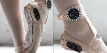 Ballettschuhe übersetzen Tanz in grafische Muster