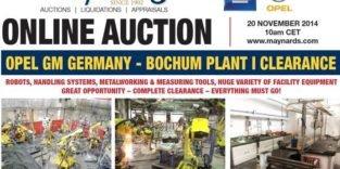 GM versteigert Maschinen des Opel-Werkes Bochum bei laufender Produktion